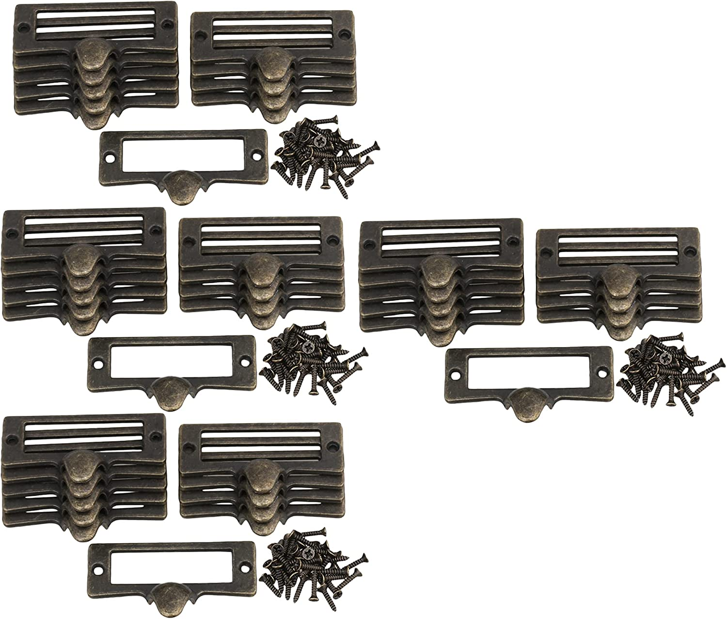 DLONY Los Angeles Mall 2.1 Max 45% OFF 1.3'' Antique Bronze Drawer f Pull Frames Handle Label