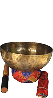 Himalayan Shop 9 Inch Hand Hammered Tibetan Singing Bowl with Suede Covered Mallet