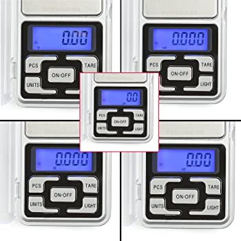 High Accuracy Mini Electronic Digital Pocket Scale Jewelry Diamond Gold Coin Calibration Weighing Balance Portable 50...