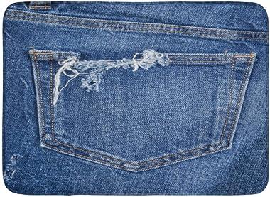 Alfombras de baño Alfombras de baño Alfombrilla de puerta para exterior / interior Lona azul Jeans rasgados Bolsillo de mezcl