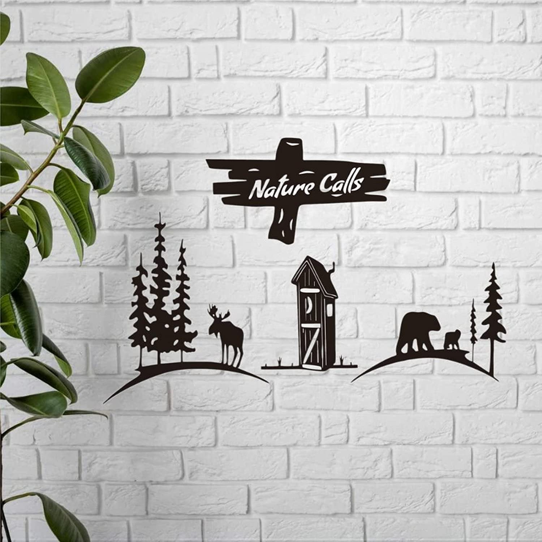 List price Bathroom Wall Decor Nature Wild Rustic Cash special price Calls Sign
