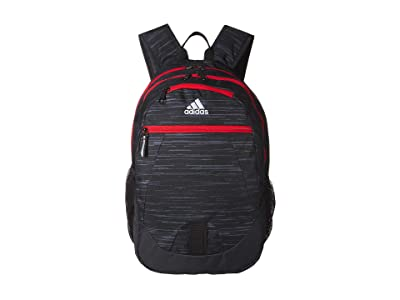 adidas Foundation V Backpack (Black Looper/Carbon/Active Red) Backpack Bags
