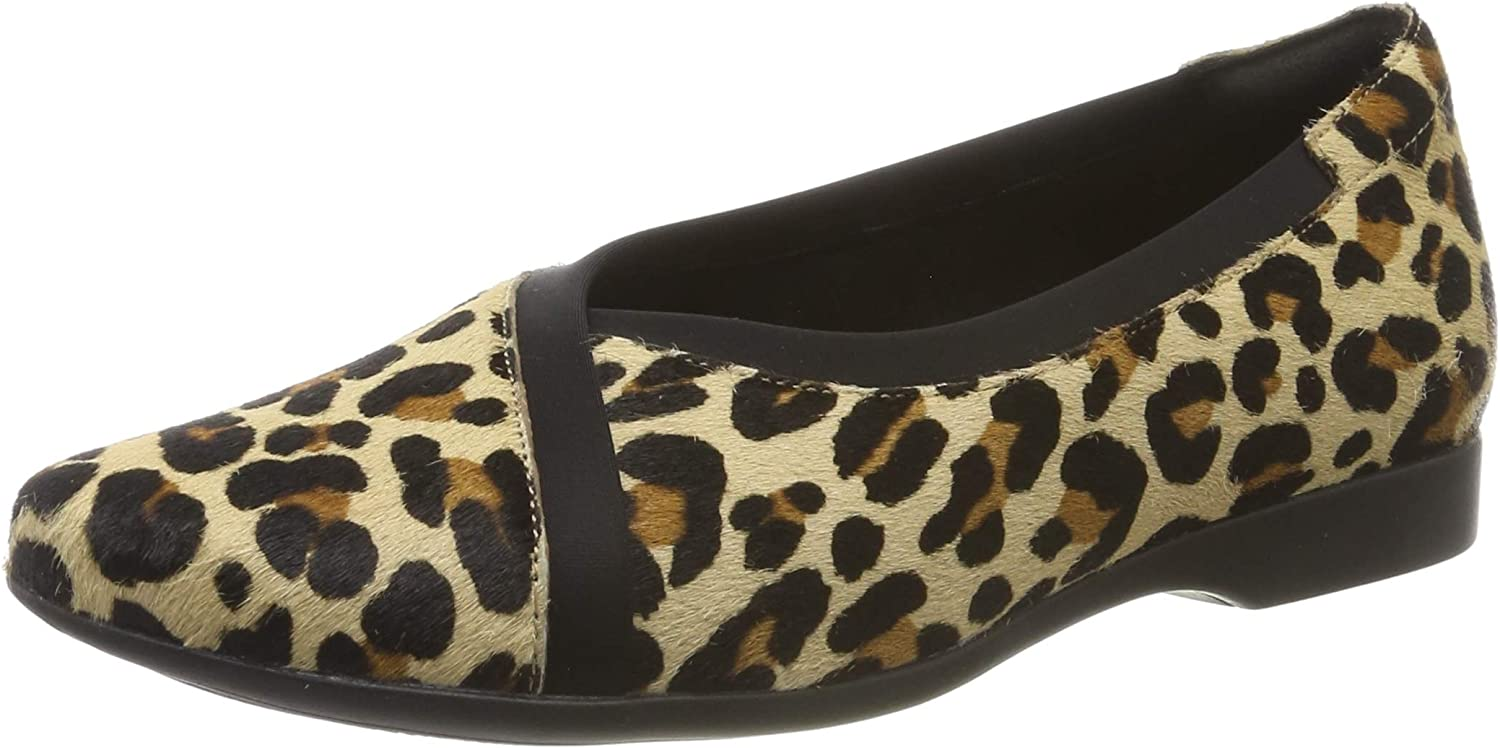 Clarks Women's Un Darcey Multicolour Ease Max National uniform free shipping 88% OFF Loafers Leopard