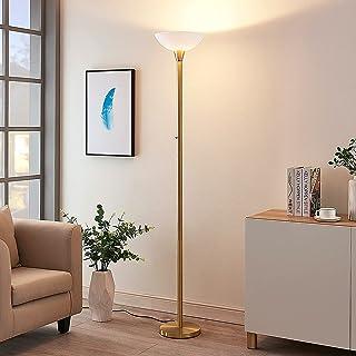 Lindby Lampadaire 'Ignacia' en Doré en Métal e. a. pour Salon & Salle à manger (1 lampe,à E27) | lampe sur pied, lampe de ...
