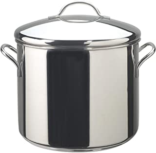 Farberware 50008 Classic Stainless Steel Stock Pot/Stockpot with Lid - 12 Quart, Silver