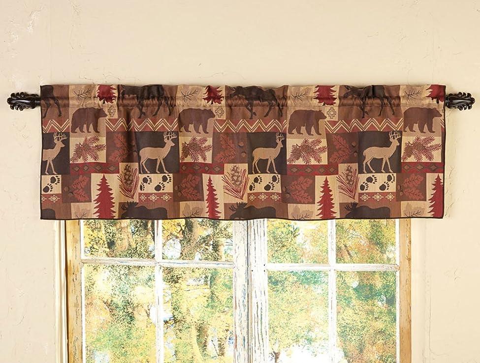 抑圧する火傷ライドレッド野生生物コラージュ飾り布