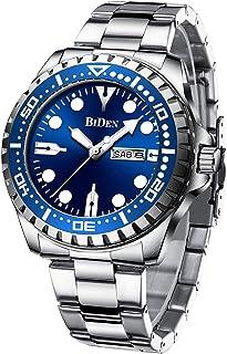 Relojes para hombre cronógrafo de acero inoxidable resistente al agua fecha analógica reloj de cuarzo negocios relojes de pulsera para hombres
