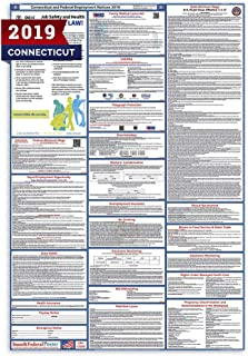 2019 Connecticut Labor Law Posters (Laminated) All-in-One State and Federal Approved, OSHA Compliant Vertical 27