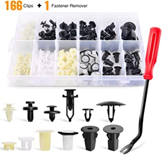 GOOACC GRC-81 166Pcs Retainer Clips + Remover 166 Pcs Car Clips &Screw Grommets-12 Most Popular Sizes & Applications for G...