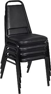 Regency 8029BK4PK Restaurant Stack Chair (4 Pack), Black