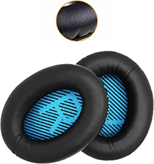 Ear Pad Replacement for Bose QuietComfort 2 15 25 35 Ear Cushion for QC2 QC15 QC25 QC35 AE 2 2i 2w with Soft Protein Leather Over-Ear Earpads (Style 2)