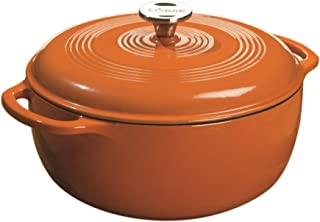 Lodge Color EC6D63 Enameled Cast Iron Dutch Oven, Pumpkin, 6-Quart