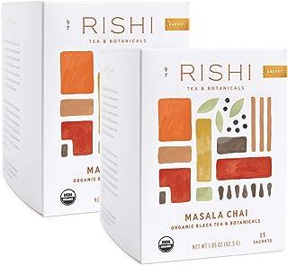 Rishi Tea Masala Chai Herbal Tea - Immune Support, USDA Certified Organic, Highly Caffeinated, Naturally Spiced, Black Tea...