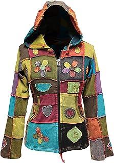 hippie vif shopoholic fashion d/élav/é Chemise /à rayures avec patchwork