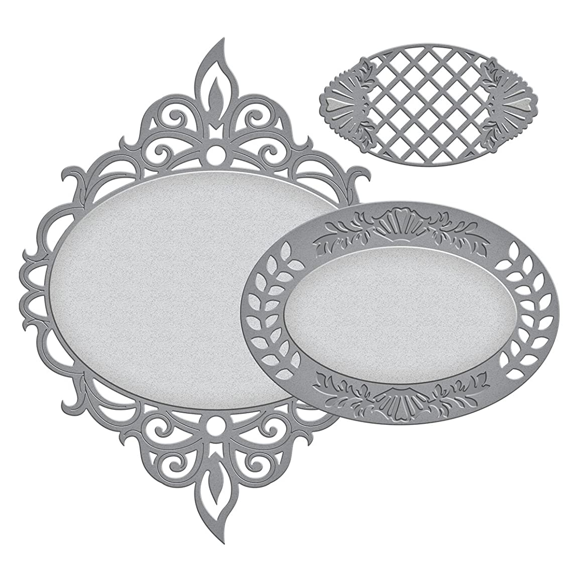 Spellbinders S4-541 Nestabilities Majestic Oval Deco Accent Etched/Wafer Thin Dies