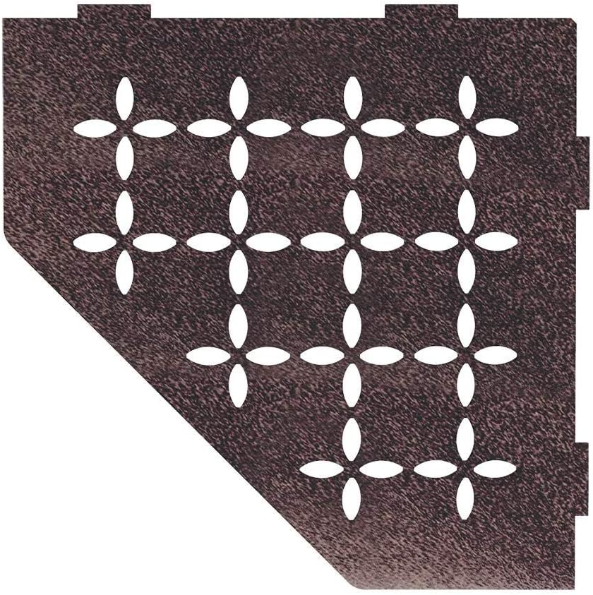 Schluter Systems Pentagonal Corner Shelf E Floral Design Matte Black Ses2d5mgs Kerdi Line Shower Acessory Amazon Com