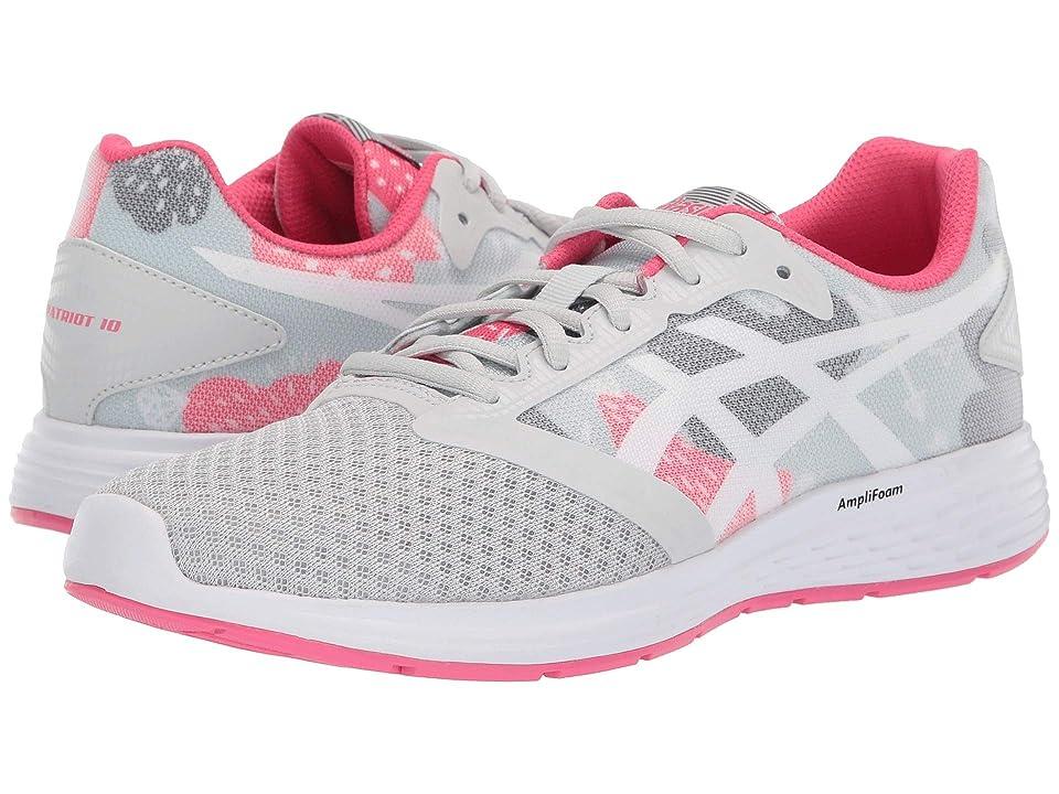 ASICS Kids Patriot 10 GS SP (Big Kid) (Glacier Grey/Pink) Girls Shoes