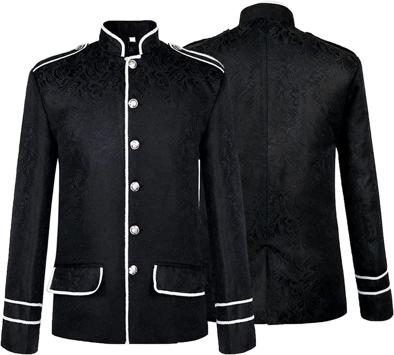 Christmas Men's Punk Jacket Cheap super special price OFFicial site Short Halloween Retro Steam