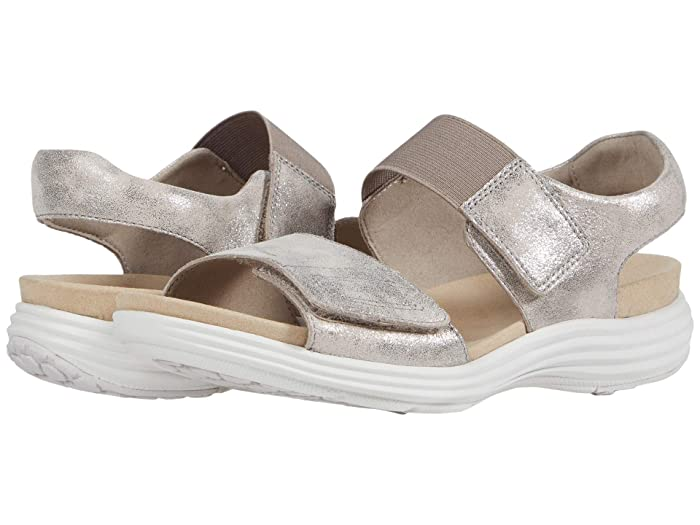 Aravon  Beaumont Two Strap (Metallic) Womens Sandals