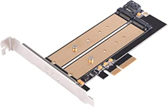 SilverStone Technology M.2 PCIE Adapter for SATA or PCIE NVMe SSD with Advanced Thermal Solution (ECM22)