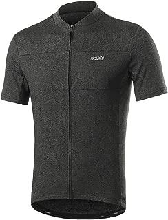 ARSUXEO Men's Elastic Cycling Jersey Short Sleeves MTB Bike Shirt 639