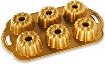 Nordic Ware Anniversary Bundtlette Mold - 1 Pieces, One Size Gold