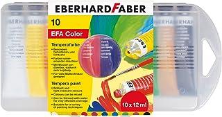 Eberhard Faber 575510 farba do malowania szkolnego Tempera, 10 tubek po 12 ml w etui