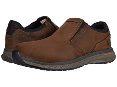Timberland PRO Drivetrain Slip-On Composite Safety Toe (Brown Leather) Men