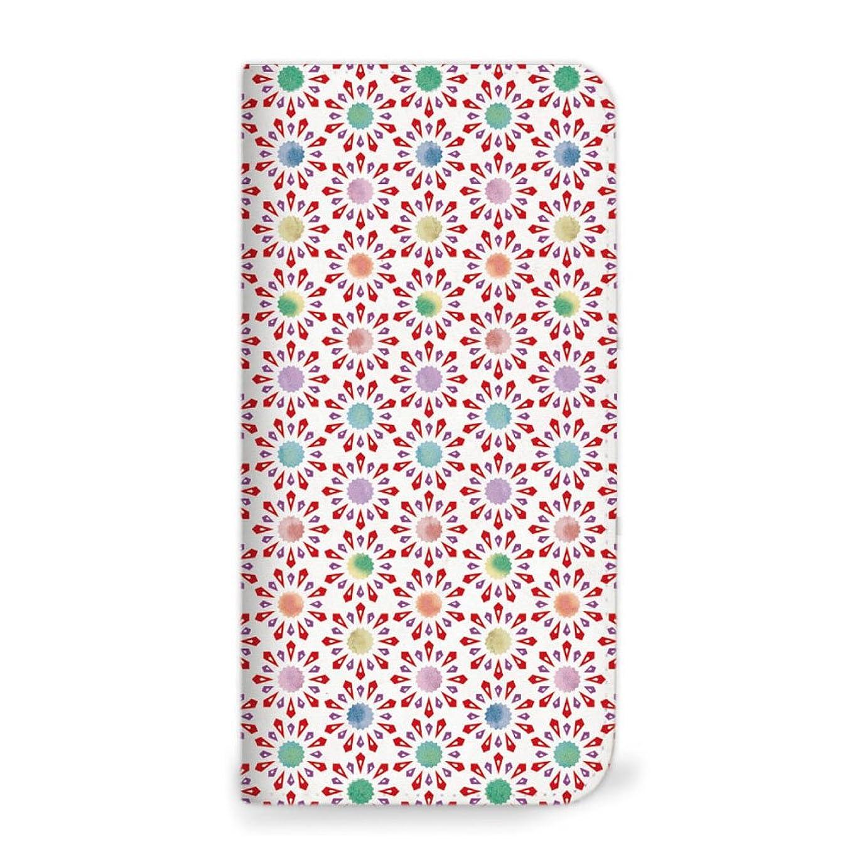 mitas iPhone6 ケース 手帳型 ベルトなし 水彩 こんぺいとう レッド (74) NB-0236-RD/iPhone6