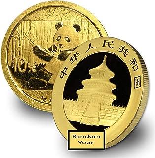 2016 CN -Present China Gold Panda (Random Year) 1 Gram Brilliant Uncirculated