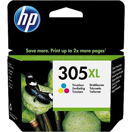 HP 305XL 3YM63AE Cartuccia Originale, da 200 Pagine, ad Alta Capacità, per Stampanti a Getto di Inchiostro HP DeskJet Serie 2700, 4200, ENVY Serie 6020, 6030, 6400 e 6430, Tricolore