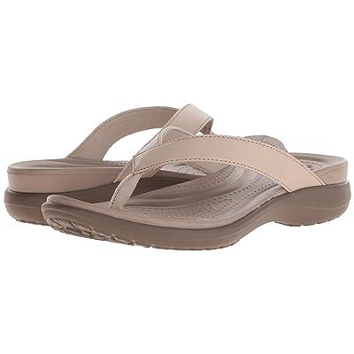 Crocs Capri V Flip (Chai/Walnut) Women