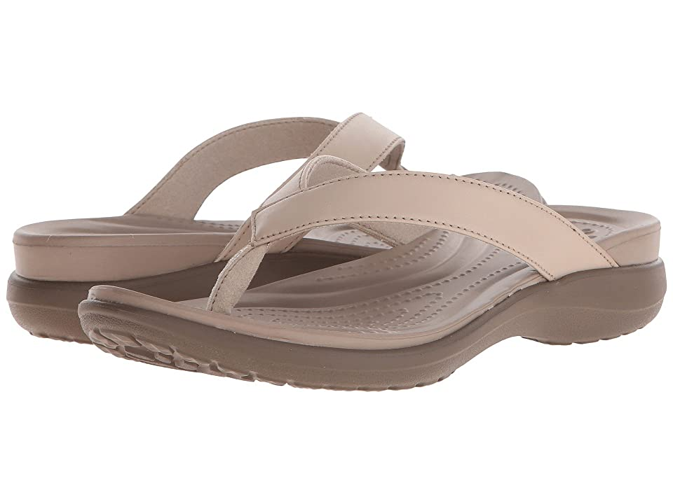Crocs Capri V Flip (Chai/Walnut) Women