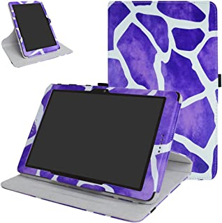 AT&T Primetime Tablet Rotating Case,Mama Mouth 360 Degree Rotary Stand with Cute Pattern Cover for 10