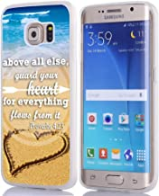 S6 Edge Plus Case Christian Sayings, Hungo Soft TPU Silicone Protective Cover Compatible with Samsung Galaxy S6 Edge Plus Bible Verses Proverbs 4:23