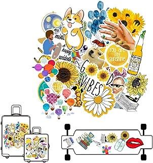 AOTUOTECH 53 Stücke DIY Aufkleber, wasserdichte PVC Aufkleber Spielzeug Dekoration für Gepäck, Kühlschrank, Laptop, Telefon, Gitarre, Fahrrad Styling Decals
