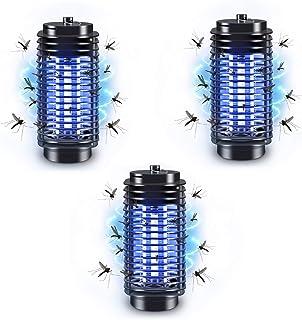 PECHTY Lámpara Antimosquitos, 3pack Lámpara Mosquito Electrico UV Luz Lampara, Electrico Lámpara Anti Mosquitos para la Cocina la Sala de Estar el Cuarto