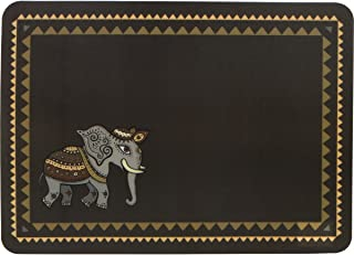 Planet Ethnic Asian Elephant Designer Polypropylene Place mats Tablemats Set (6 placemats, 15.75 X 11.4 inches each)