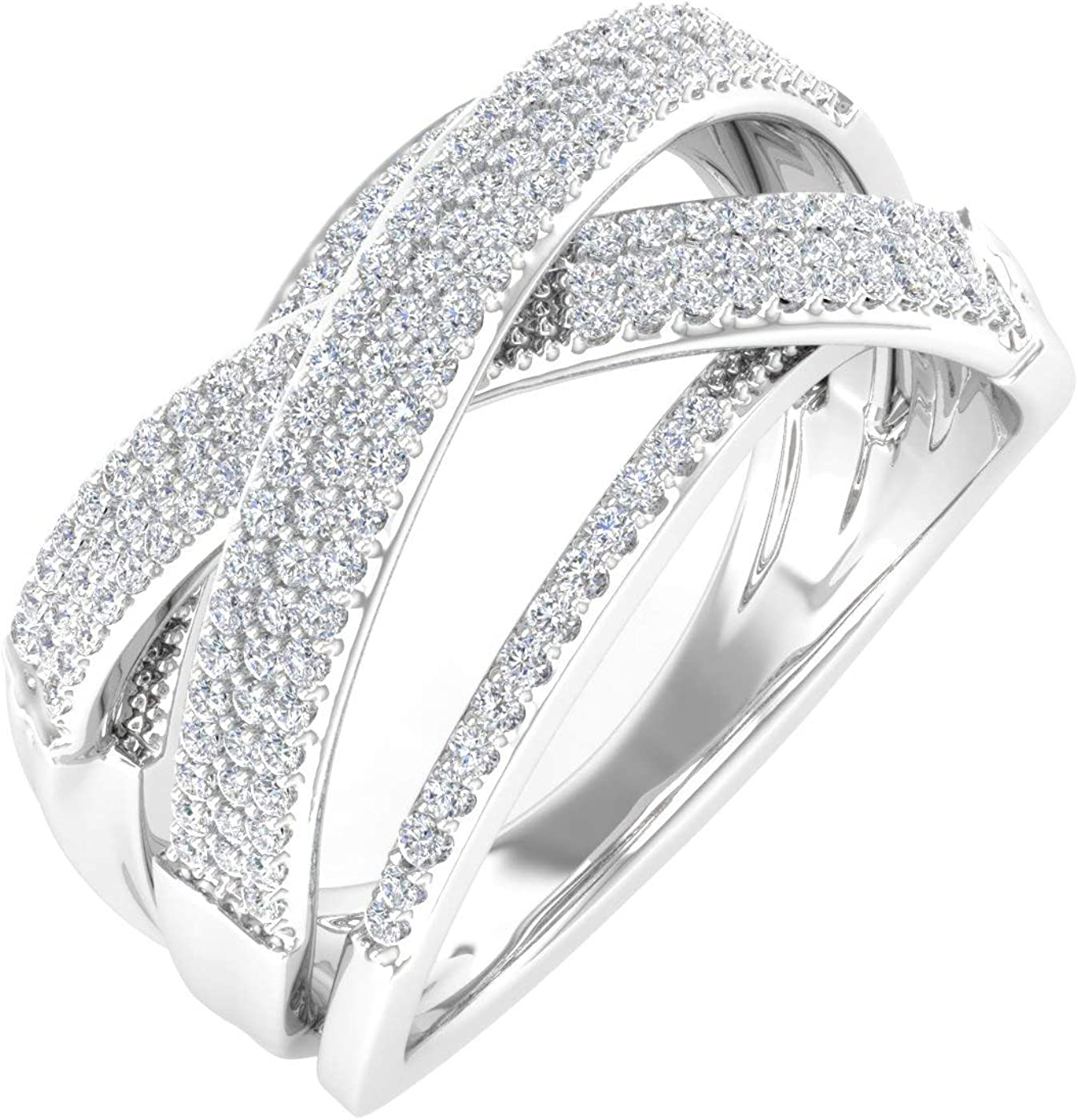 0.52 Carat Diamond Max 74% OFF Bypass Nashville-Davidson Mall Wedding Gold Band in 10K Ring