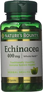 Nature's Bounty Natural Whole Herb Echinacea 400mg, 100 Capsules (Pack of 3)