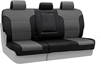 Coverking Custom Fit Rear 60/40 Bench Seat Cover for Select Toyota Prius Models - Spacermesh 2-Tone (Gray with Black Sides)