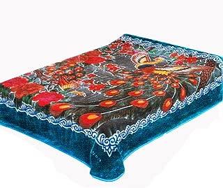 Solaron Peacock Queen Blanket, Blue