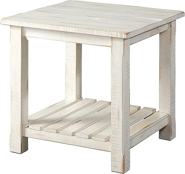 Martin Svensson Home 890233 Barn Door End Table Antique White