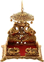 anytime The Craft Corner Gold Plated Metal Singhasan for God Idols