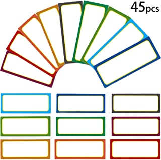 45 Pieces Magnetic Dry Erase Labels Name Plates Board Nameplates Tags for Fridge Home Office and Classrooms (Color Set 2)