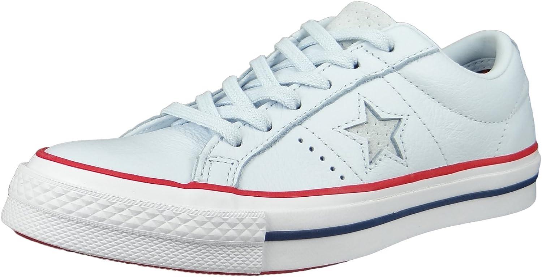 Converse Chucks 160626C bluee One Star OX bluee Tint Gym Red White