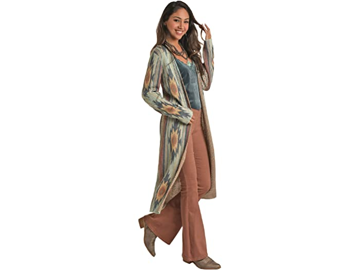 Rock and Roll Cowgirl 46-6323 Aztec Sweater Duster