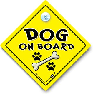Dog On Board Sign, Dog On Board Vehicle Sign, Dog in Car Sign, Dog Car Sign, Novelty Car Sign, Baby On Board Sign Style, Bumper Sticker Style, Dog in Car, Dog in Vehicle, Canine Decal