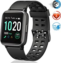 FitFort Smart Watch for Android and iOS Phone 2019 Version IP68 Waterproof, Fitness..