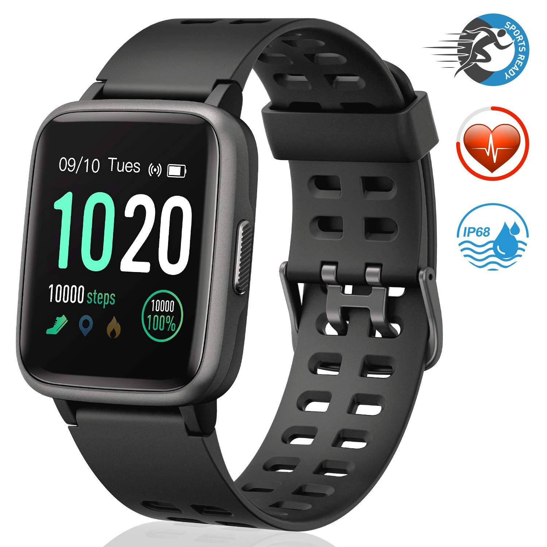 FitFort Waterproof Pedometer Smartwatch Compatible